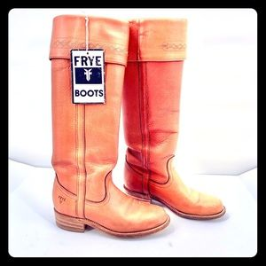 Frye Tall Brown Leather Riding Boots Size 5.5